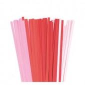Bandes de papier pour Quilling - rouge/rose