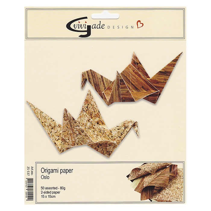 Oslo - Origami Paper, 15x15cm, 50 assorted sheets
