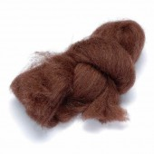 Felting wool, brown