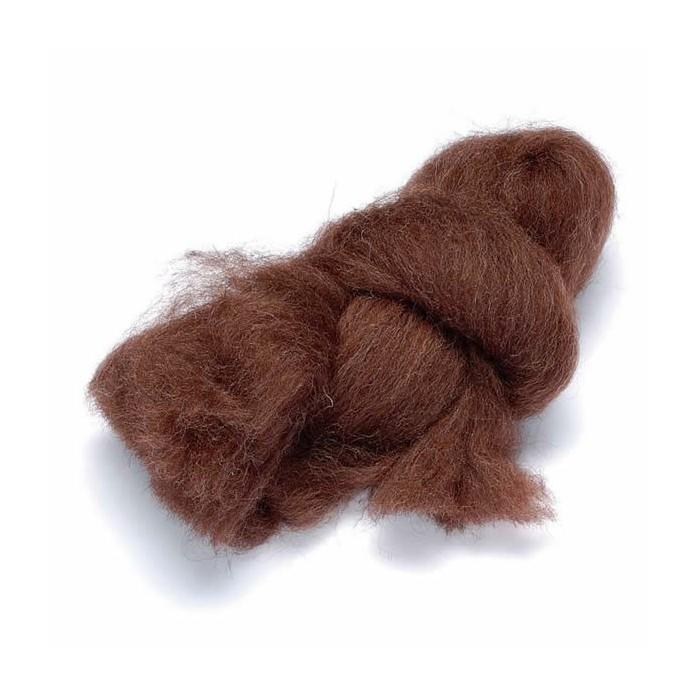 Felting wool, brown