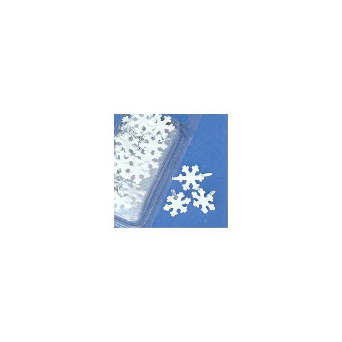 Brads snowflakes 15mm