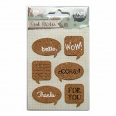 Cork Stickers - Words