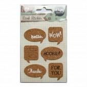 Cork Stickers - Words