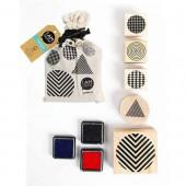 Stamps in a bag - Geometrics - 5 pcs