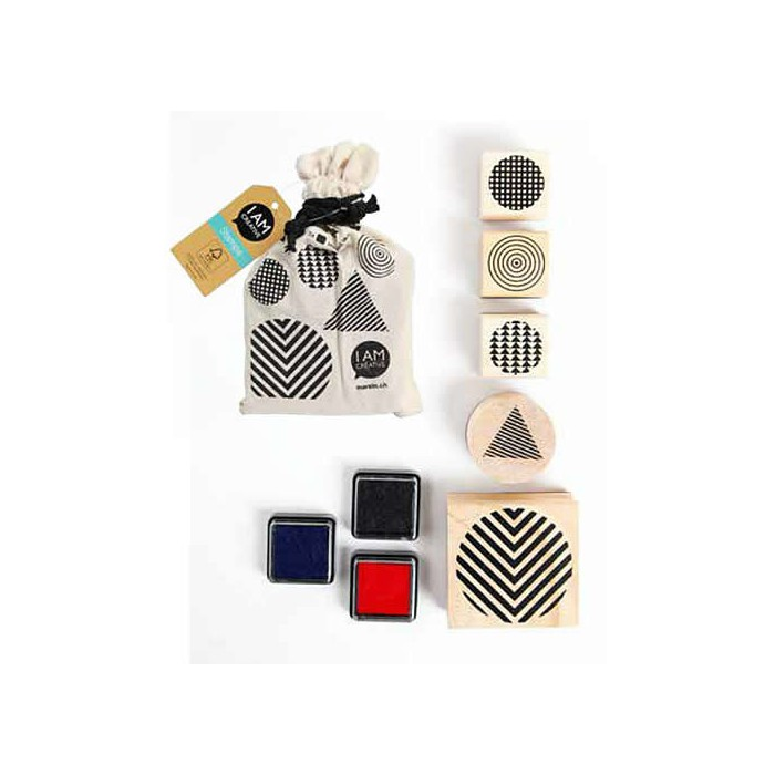 Stamps in a bag - Geometric - 5 pcs