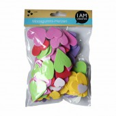 Rubber foam hearts, 150pcs