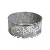 Metallic dish roses, Ø 10.5cm