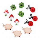 Decoration Good Luck, 20mm, 12 pcs