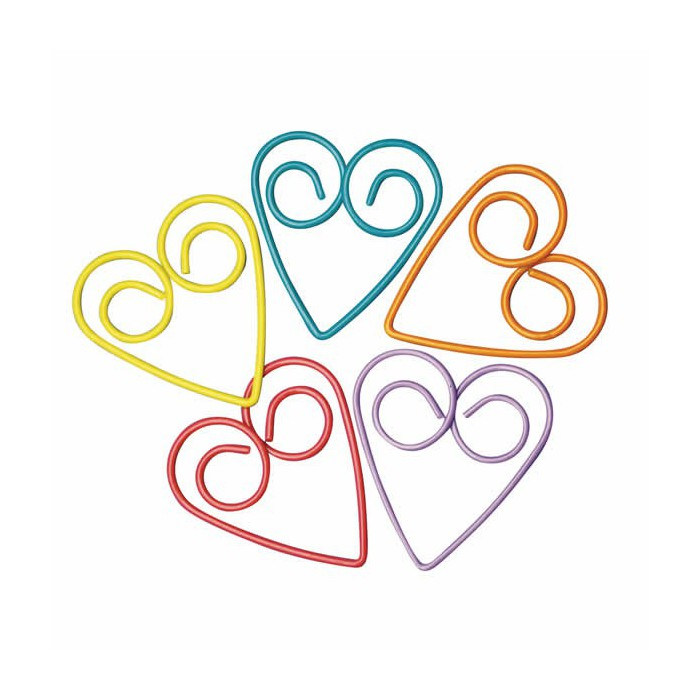 """Clips """"Hearts"""", 23mm"""
