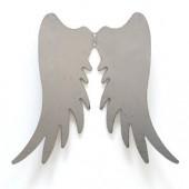 Ailes d'ange en métal, 18x15cm, argent