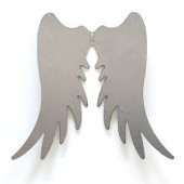 Metal angel wings,  18x15cm, silver
