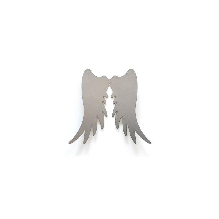 Metal angel wings,  18x15cm, silver