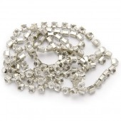 Strass Chain, cristal, 3mm/1m