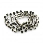 Strass Chain, black, 3mm/1m