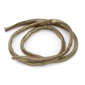 Tubular resilient strip lycra, Ø5mm/1m, metallic bronze