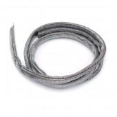 Tubular resilient strip lycra, Ø5mm/1m, metallic grey