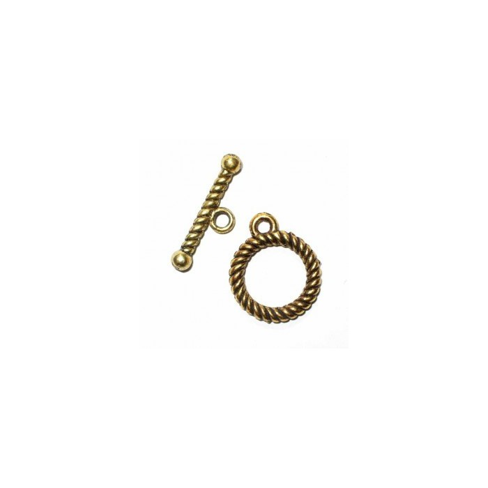 Stick clasp twisted, color : gold