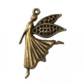 Hanging elf, 40x15mm, bronze, 1 pce
