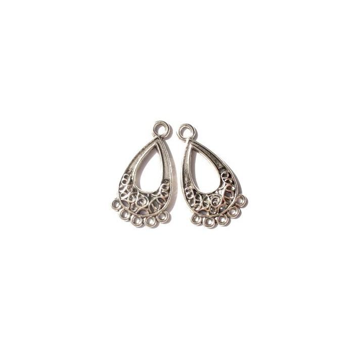 Pendant Earrings, drop shape, 21mm, 4 pces