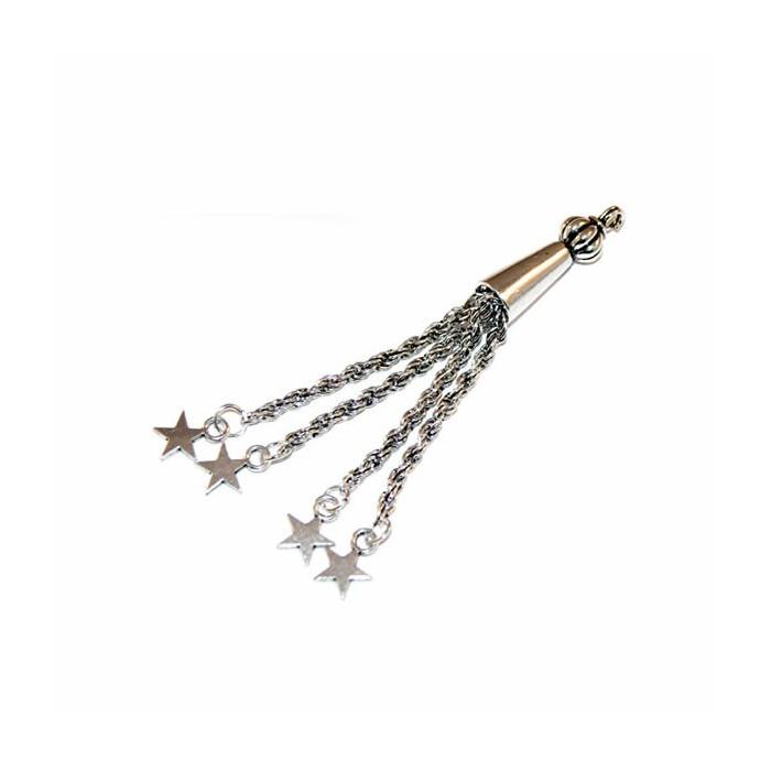 Metal tassel stars 81mm, 1 pce
