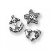 Charms Sea, 1cm, silver color