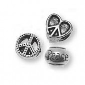 Charms Peace, 1cm, silver color