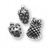 Charms Fruit, 1cm, silver color