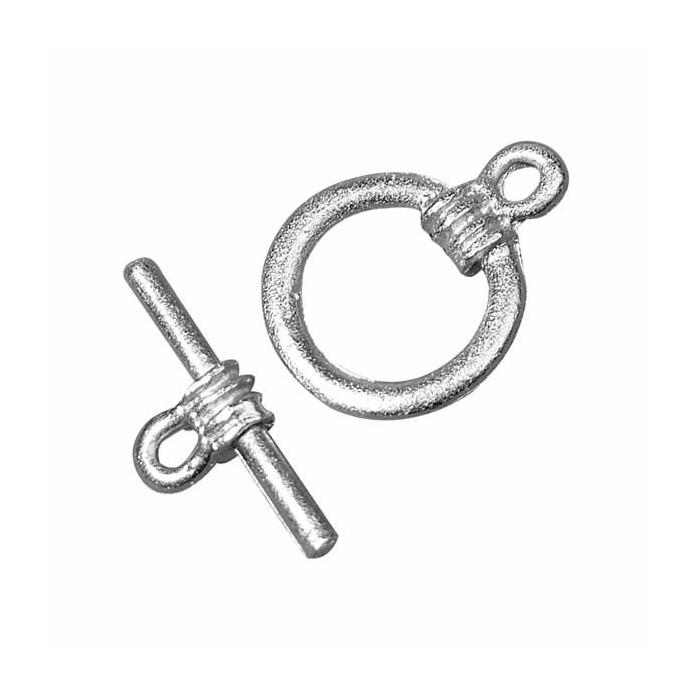 Clasp round, color : silver