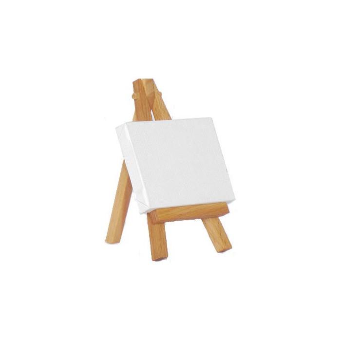 Mini canvas and easel