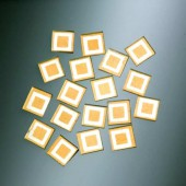 Matrix Mosaic, gold, squares, 10x10x2mm