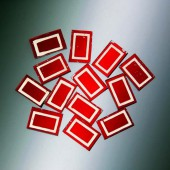 Matrix Mosaic, red, rectangle, 10x15x2mm