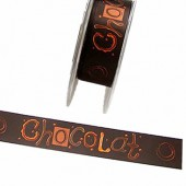Ruban Chocolat brun foncé 15mm/2.5m
