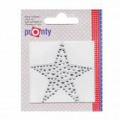 Motif à fixer au fer à repasser, étoile en strass 6x6cm