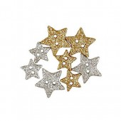 Boutons Sparkly Stars 13+18mm, 8 pcs