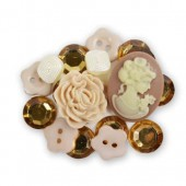 Boutons et ornements Vintage Collectibles, 18 pcs