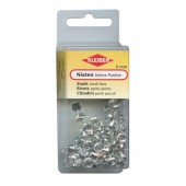 Assorted studs silver-coloured, strass 6mm, 100 pcs