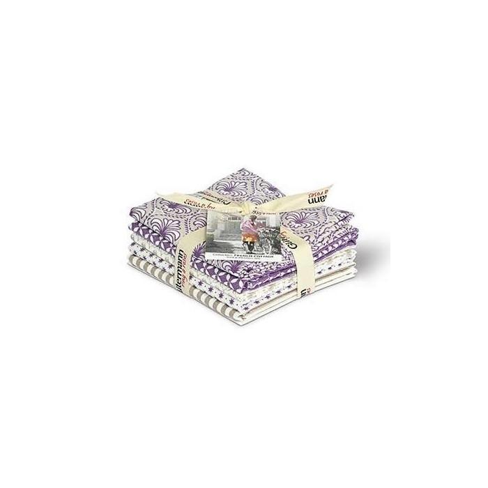 Gütermann Fat Quarters - French Cottage purple/sand