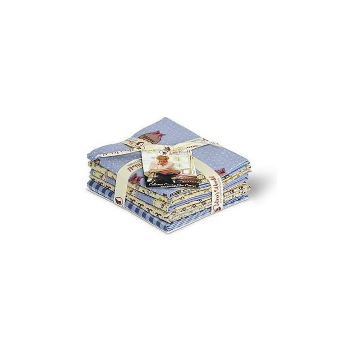 Gütermann Fat Quarters - Country Chic Cottage blue/sand