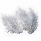 Grey Feathers, 8cm, 15 pcs