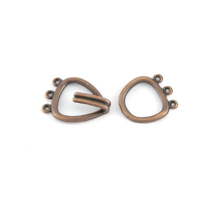 Multi-strand clasp, 44x20mm, 1 pce