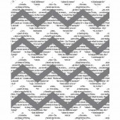 Tissue Paper Chevron Newsprint