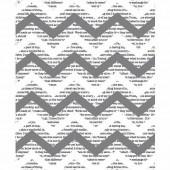 Papier de soie imprimé Chevron Newsprint