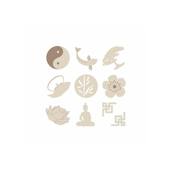 Wooden elements : Zen
