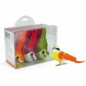Decorative birds on plier, 8cm, 3 pcs