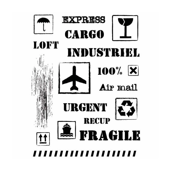 Clear stamps, pictograms