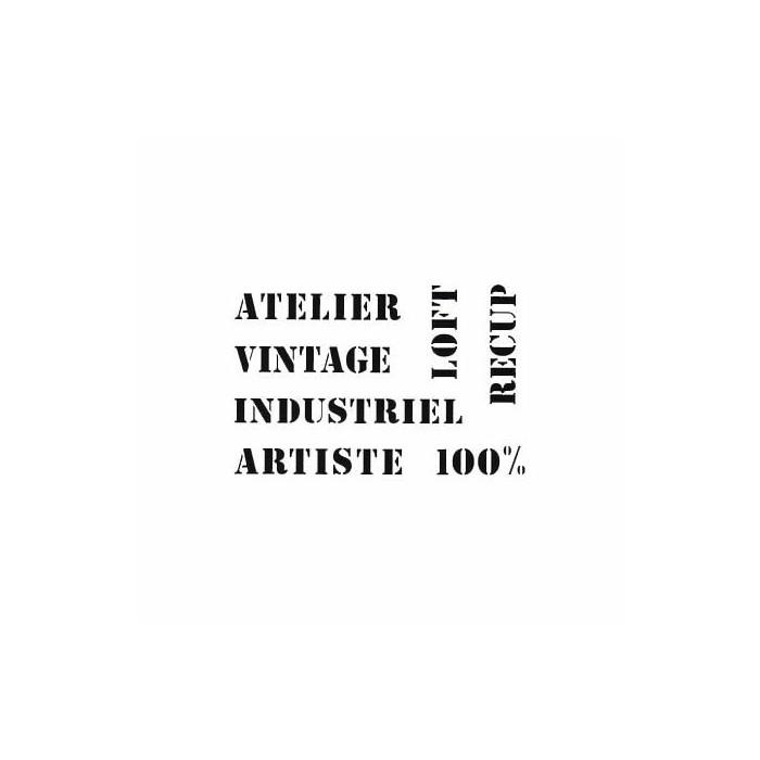 Stencil A3 Words Vintage