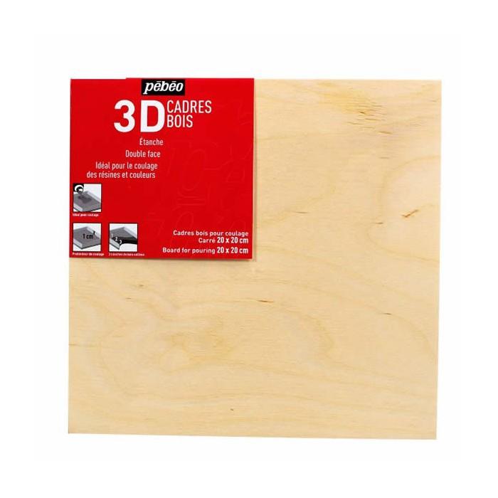 3D Marco de madera 20x20cm - creaclic.ch