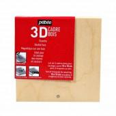 Cadre en bois 3D pour coulage 10x10cm, 2 pcs