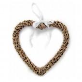 Coeur en rotin, 25cm