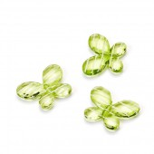 Plastic Butterflies, 3cm, green, 12 pcs
